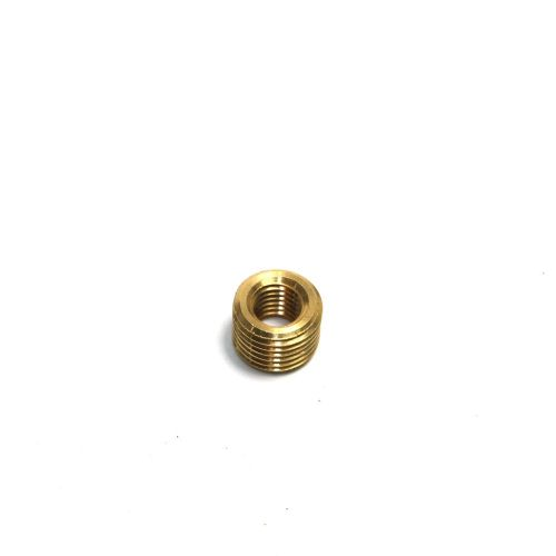 Solid Brass M10 x 1mm Pitch to M6 x 1mm Pitch Headless Reduction Bush